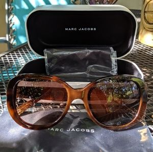 Marc Jacobs 🍋 brown with gold glitter sunglasses